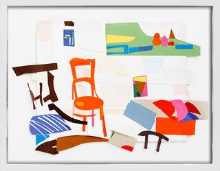 "Bild ""Oranger Stuhl"" (2014) (Unikat)"