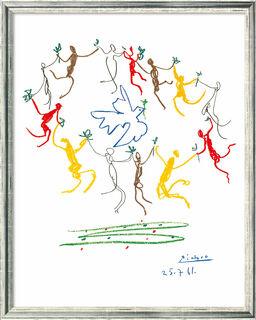 """Bild """"Der Reigen"""" (1961), gerahmt"""