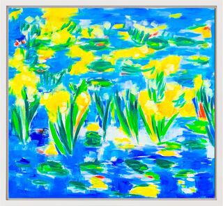 """Bild """"Wasserlilien II"""" (2019) (Unikat)"""