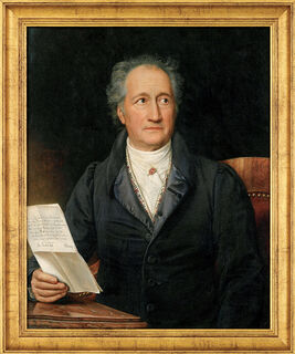 "Bild ""Goethe"" (1828), gerahmt"
