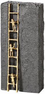 """Skulptur """"Nach oben streben"""", Bronze mit Kunststein"""