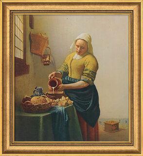 "Bild ""Dienstmagd mit Milchkrug"" (1658), gerahmt"