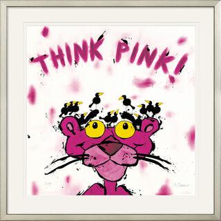 """Bild """"Think Pink!"""", gerahmt"""