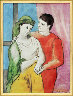 "Bild ""The Lovers"" (1923), gerahmt"