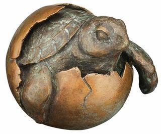 """Skulptur """"Schildkröte"""", Bronze"""