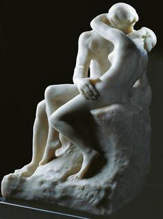 """Skulptur """"Der Kuss"""" (27 cm), Version in Kunstmarmor"""