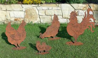 "Gartenfiguren ""Hühnerfamilie"""