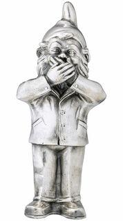 "Skulptur ""Geheimnisträger - Nichts sagen"", Version versilbert"