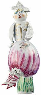 """Skulptur """"Ballonkleid"""", Porzellan"""