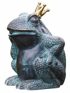 """Gartenskulptur / Wasserspeier """"Froschkönig"""", Bronze"""