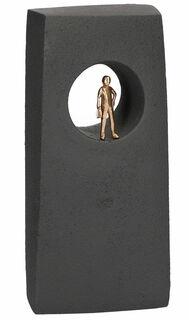 """Skulptur """"Neue Ausblicke"""", Bronze mit Kunststein"""