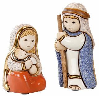 """Krippenfiguren """"Maria & Josef"""", Porzellan"""