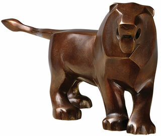 "Skulptur ""Kleiner Löwe"", Bronze"