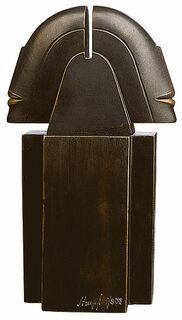 """Skulptur """"Doppelkopf"""", Version in Bronze"""
