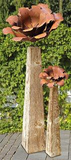 "2 Gartenstelen ""Kamelienblüte"" im Set"