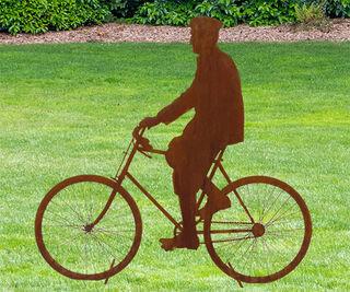 """Standfigur """"Max mit Fahrrad"""""""