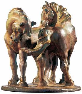 """Skulptur """"Zwei Pferde"""" (1908/09), Version in Kunstbronze"""