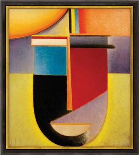 """Bild """"Abstrakter Kopf Sonne-Farbe-Leben"""" (1926), gerahmt"""
