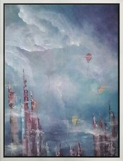 "Bild ""Colorful World II"" (2020) (Original / Unikat), gerahmt"