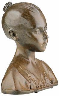 """Büste """"Worpsweder Kind"""", Reduktion in Bronze"""