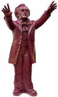 "Skulptur ""Richard Wagner"", unsignierte Version purpurviolett"