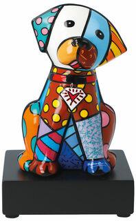 "Porzellanskulptur ""Hund Baby Blue"""