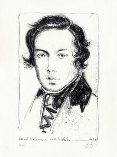 "Bild ""Robert Schumann"", ungerahmt"