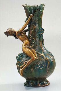 "Vase ""Marguerites"", Version in Kunstbronze"