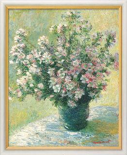 """Bild """"Vase à fleurs - Malvenstrauß"""" (1881/82), gerahmt"""