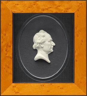 "Miniatur-Porzellanbild ""Johann Wolfgang von Goethe"", gerahmt"