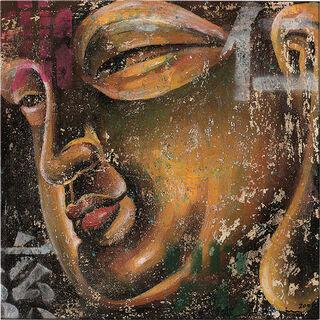 """Bild """"Kleiner Buddha, gold"""", auf Keilrahmen"""
