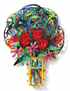 """3D-Wandskulptur """"Bouquet - London"""" (2009), Aluminium"""