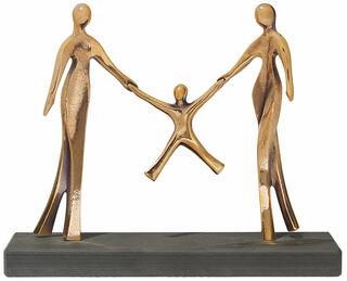"""Skulptur """"Glückliche Familie"""", Bronze"""