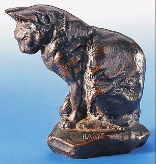 """Skulptur """"Katze"""", Version in Metallguss"""