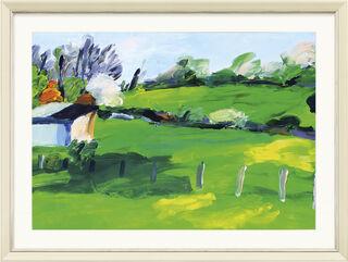 """Bild """"Landschaft mit Scheune"""" (2014) (Unikat)"""