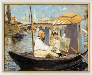 """Bild """"Die Barke"""" (1874), gerahmt"""