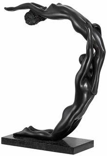"""Skulptur """"Paolo und Francesca"""" (2008), Bronze"""