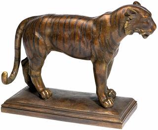 "Skulptur ""Tiger"", Version in Bronze"