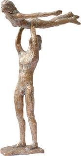 """Skulptur """"Flieg mit mir"""" (2020), Bronze"""