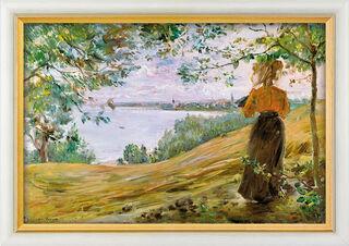 """Bild """"Die Danziger Bucht bei Zoppot"""" (1900), gerahmt"""