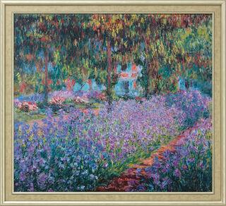 """Bild """"Irisbeet in Monets Garten"""" (1900), gerahmt"""