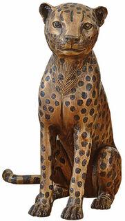 """Skulptur """"Gepard sitzend"""", Bronze"""