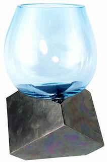 "Vase ""Highlight"", Glas/Bronze"
