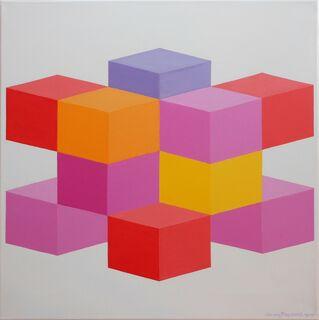 "Bild ""Kube 6"" (2019) (Unikat)"