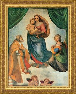 """Bild """"Sixtinische Madonna"""" (um 1513), gerahmt"""
