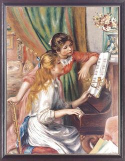 """Bild """"Junge Mädchen am Klavier"""" (1892), gerahmt"""