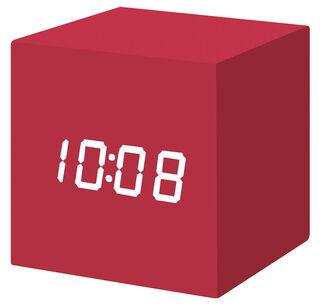 """LED-Tischuhr """"Color Cube rot"""" mit Alarmfunktion - MoMA Kollektion - Design Natalie Sun"""