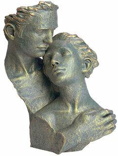 """Skulptur """"Hingabe"""", Kunstguss Steinoptik"""