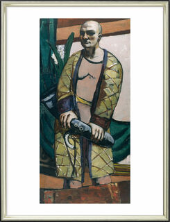 """Bild """"Selbstbildnis mit Saxophon"""" (1930), gerahmt"""