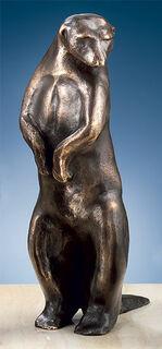 """Skulptur """"Erdmännchen II"""" (Höhe 24 cm), Bronze"""